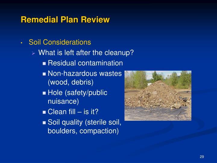 Remedial Plan Review