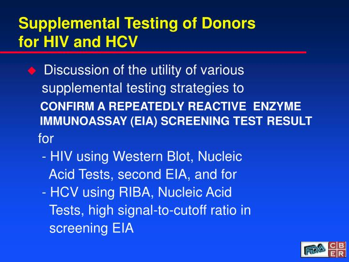 Supplemental testing of donors for hiv and hcv l.jpg