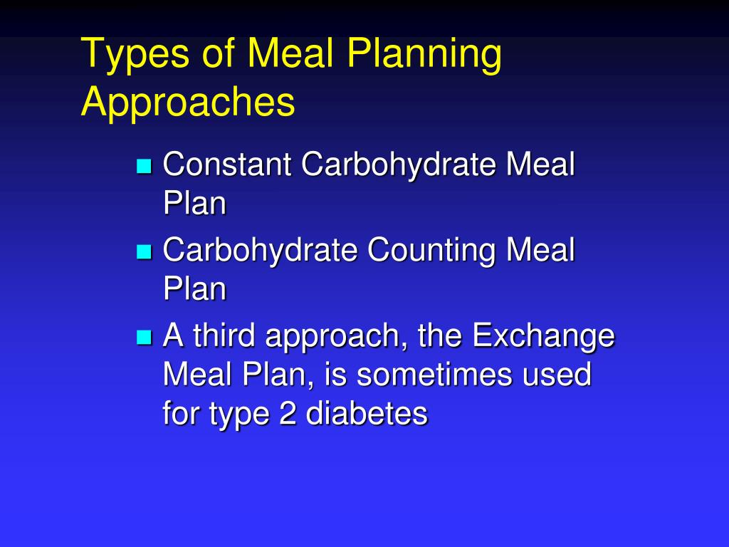 Types of Meal Planning Approaches