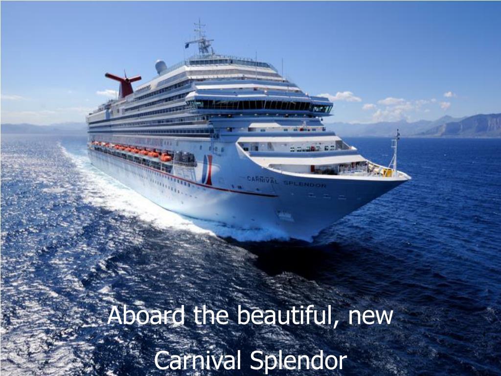 Aboard the beautiful, new