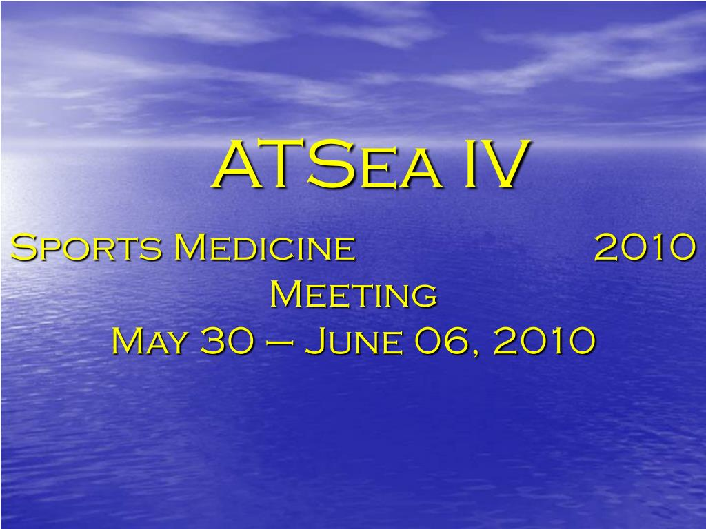 Sports Medicine                        2010 Meeting