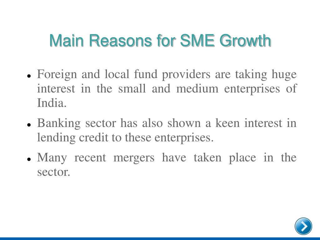 Main Reasons for SME Growth