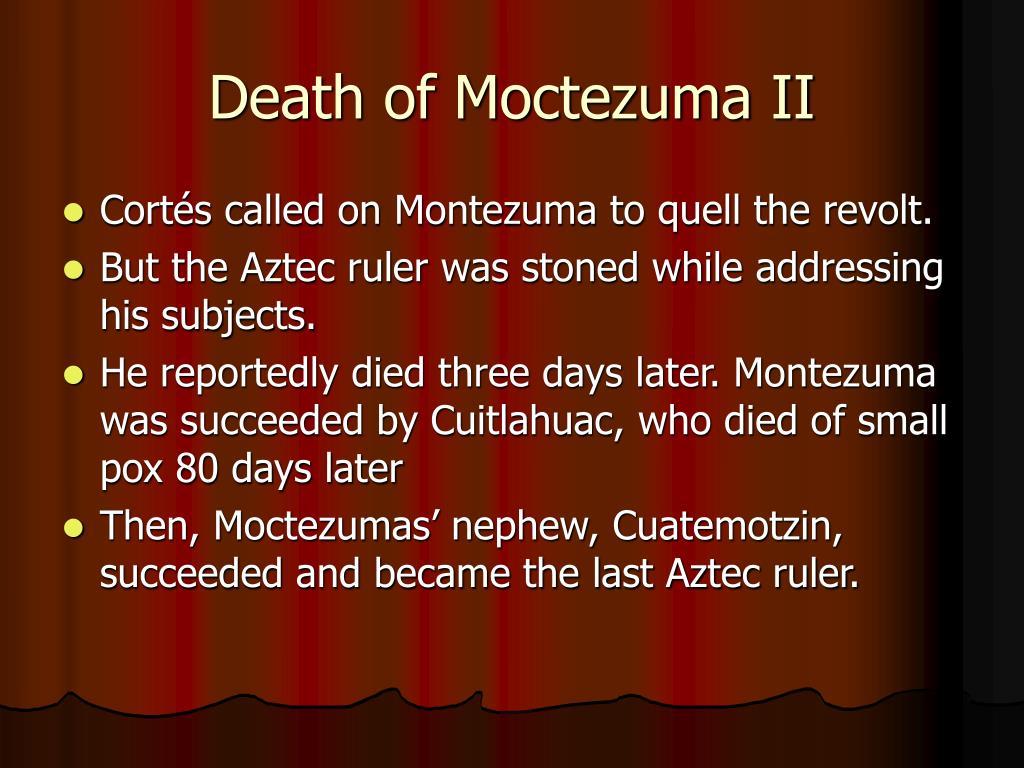 Death of Moctezuma II