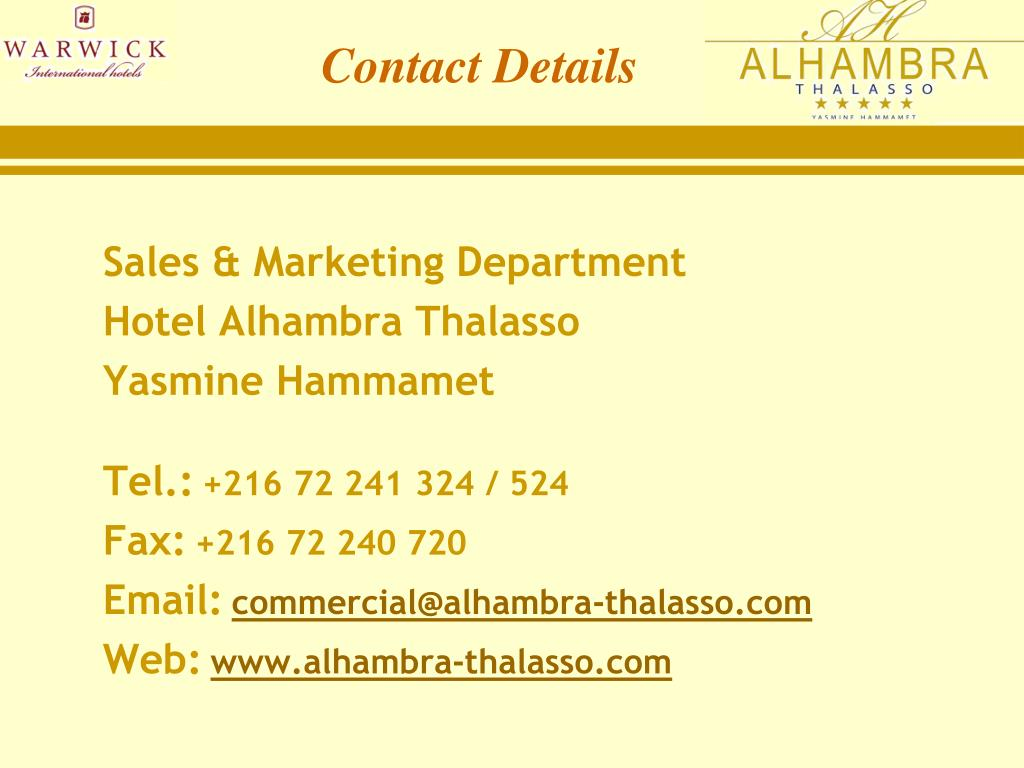 Sales & Marketing Department