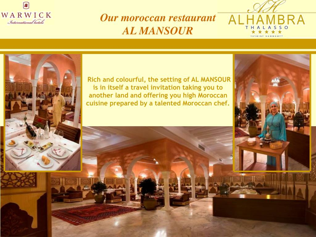 Our moroccan restaurant