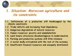 1 situation moroccan agriculture and its constraints