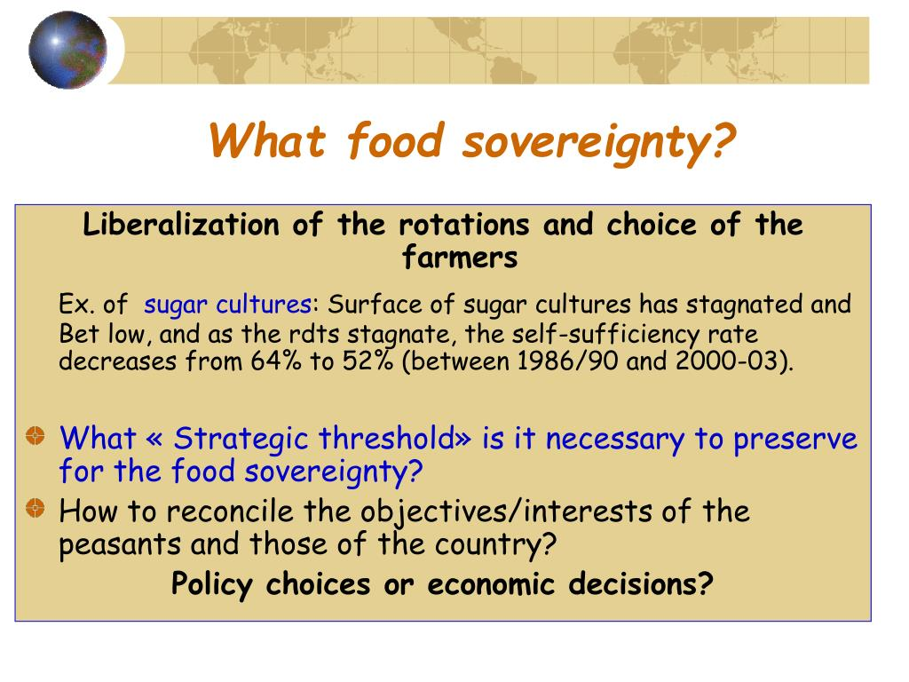 What food sovereignty?