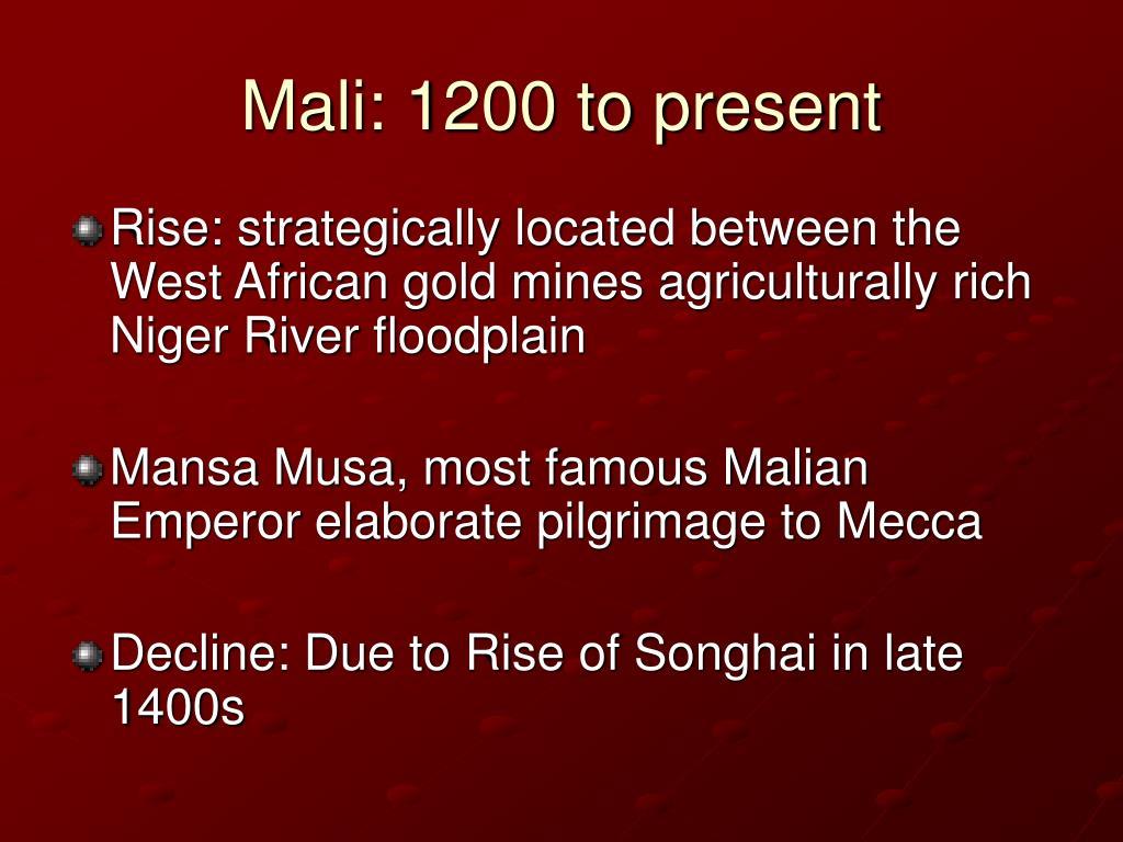 Mali: 1200 to present