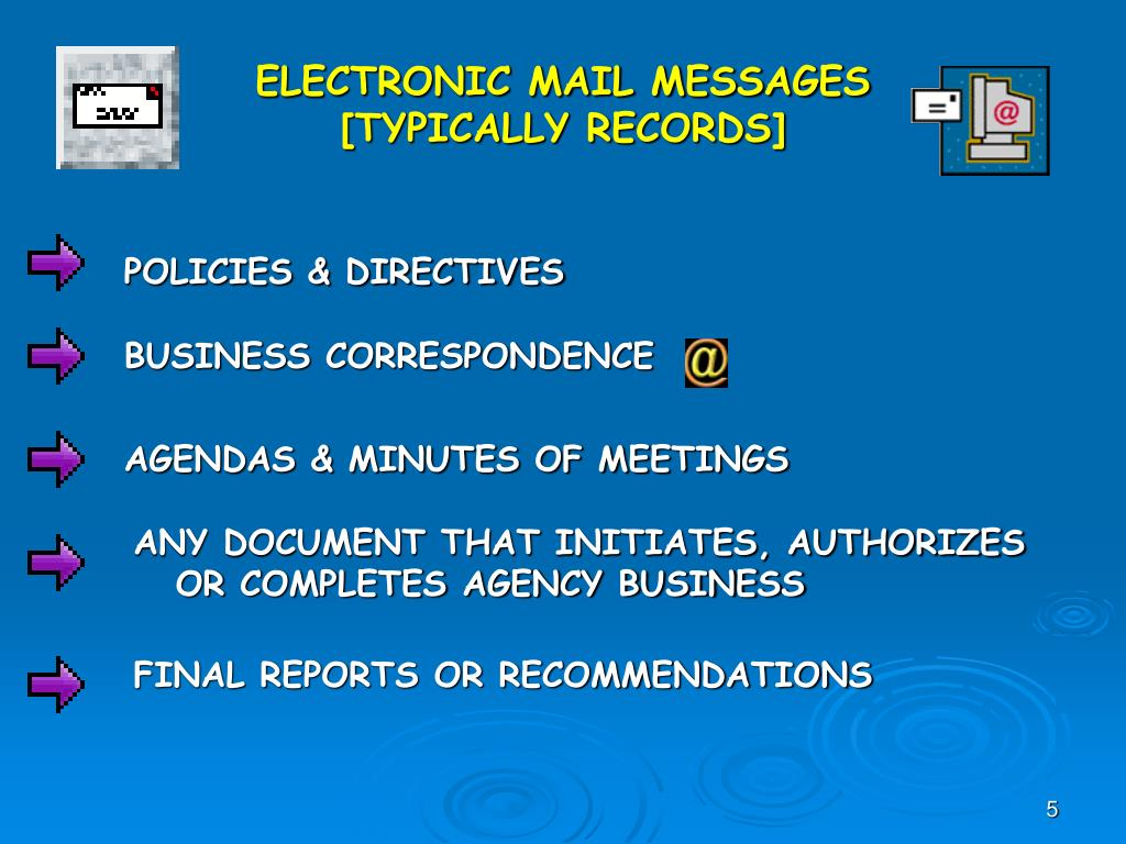 ELECTRONIC MAIL MESSAGES
