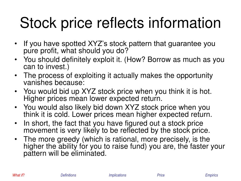 Stock price reflects information