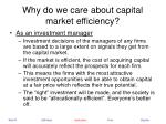 why do we care about capital market efficiency19