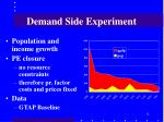 demand side experiment