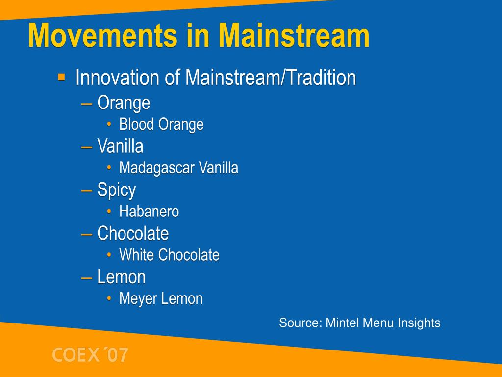 Movements in Mainstream