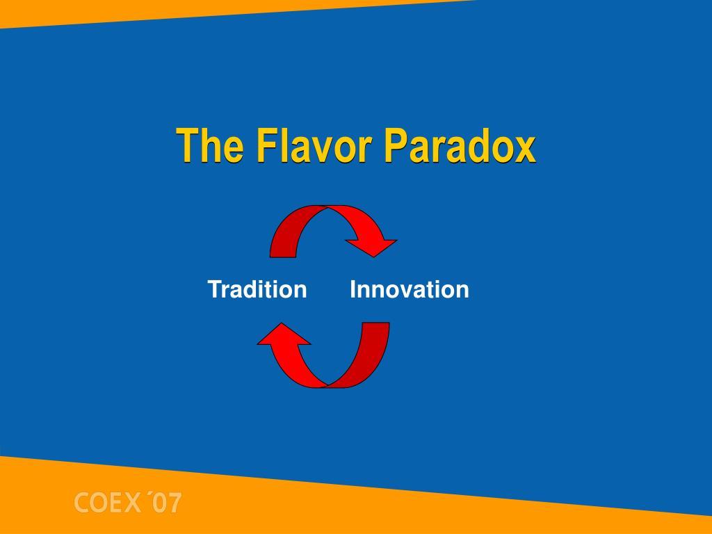 The Flavor Paradox