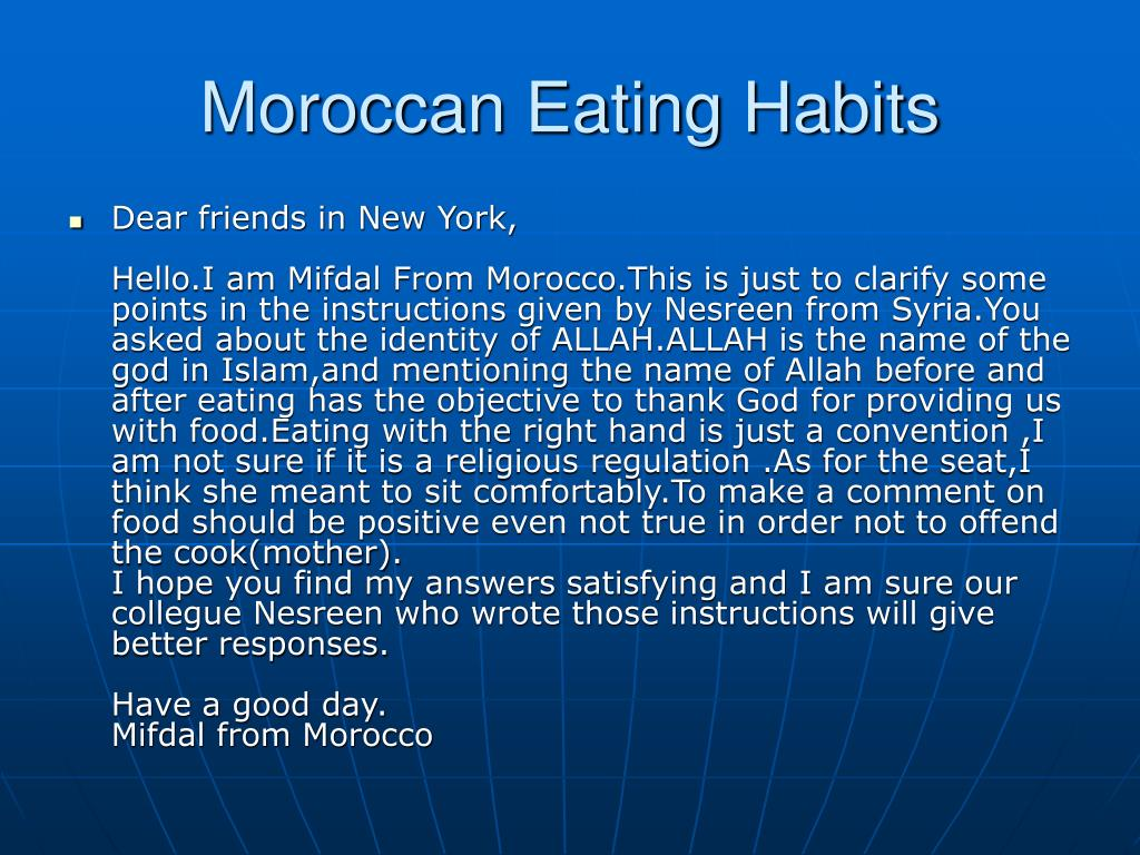 Moroccan Eating Habits