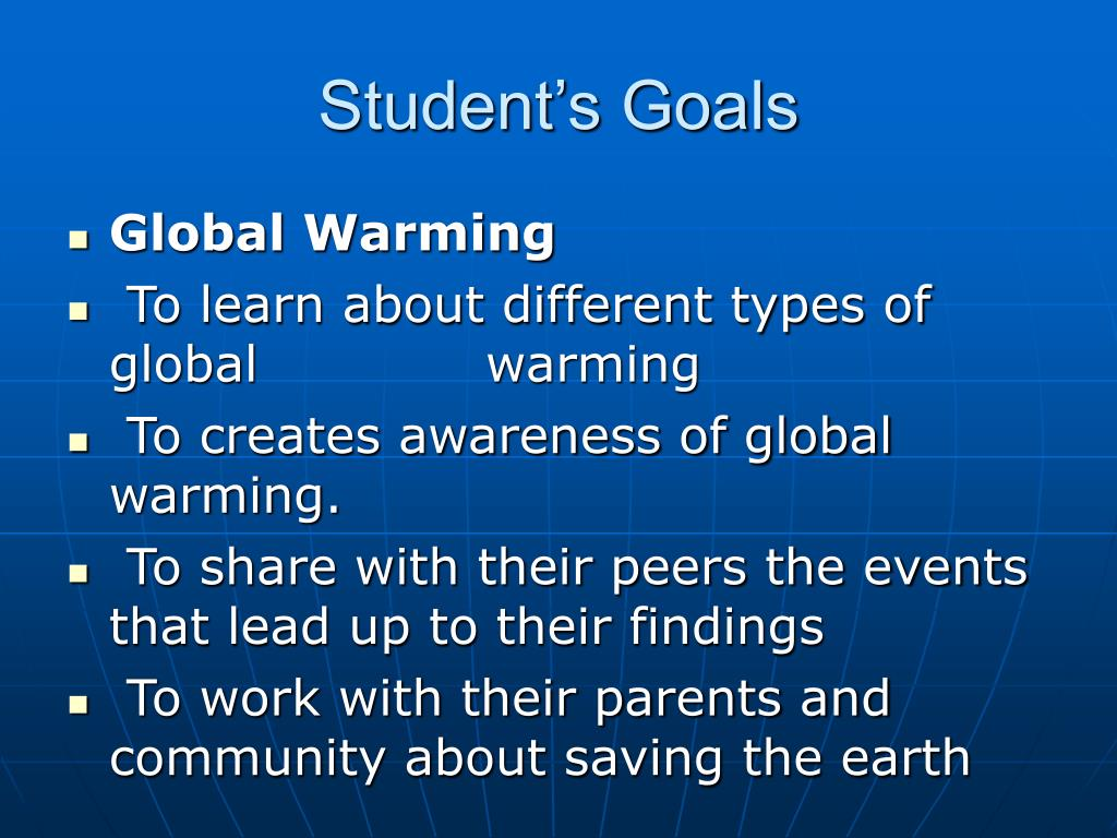 Student's Goals
