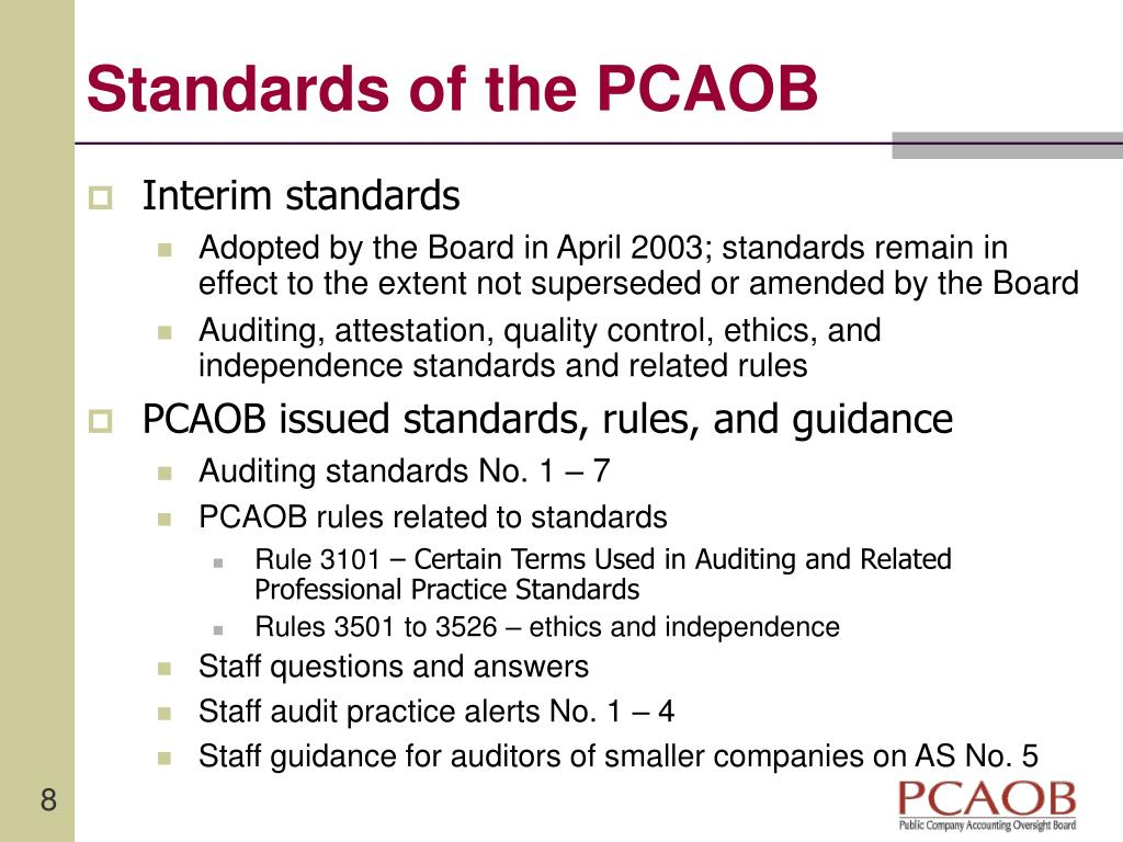 Standards of the PCAOB