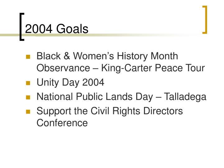 2004 Goals