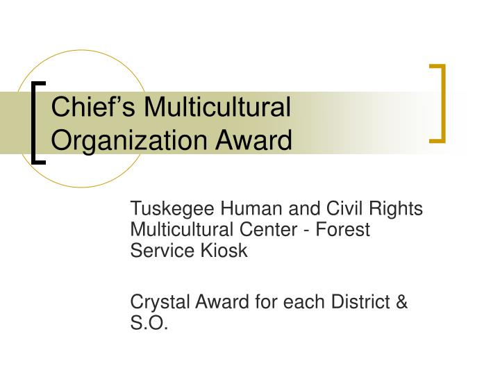 Chief's Multicultural Organization Award