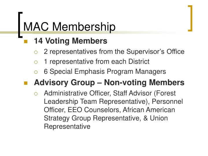 MAC Membership