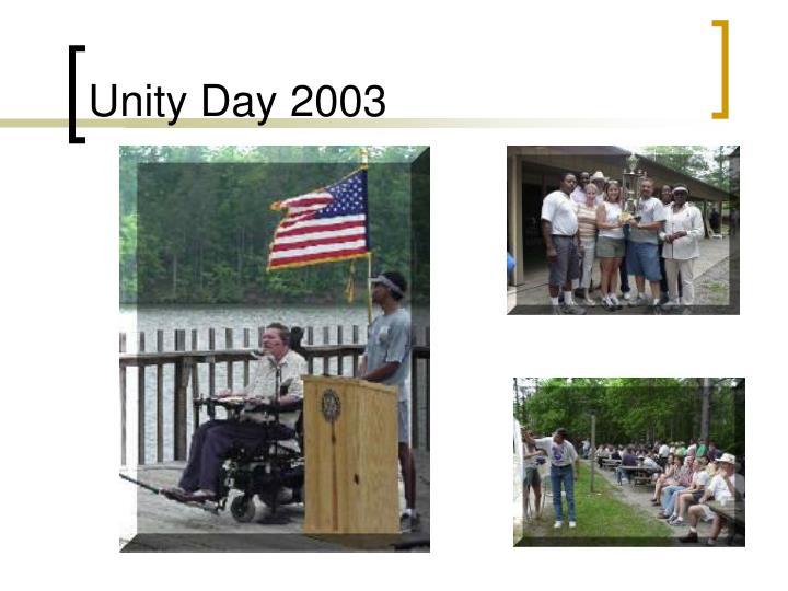 Unity Day 2003