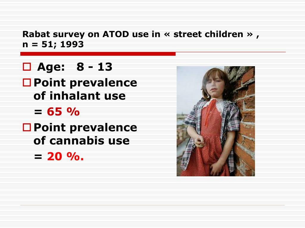 Rabat survey on ATOD use in « street children » ,