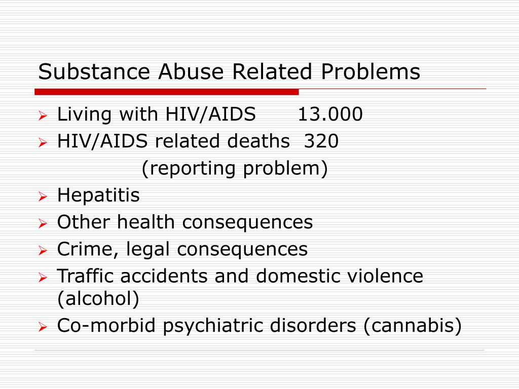 Substance Abuse Related Problems