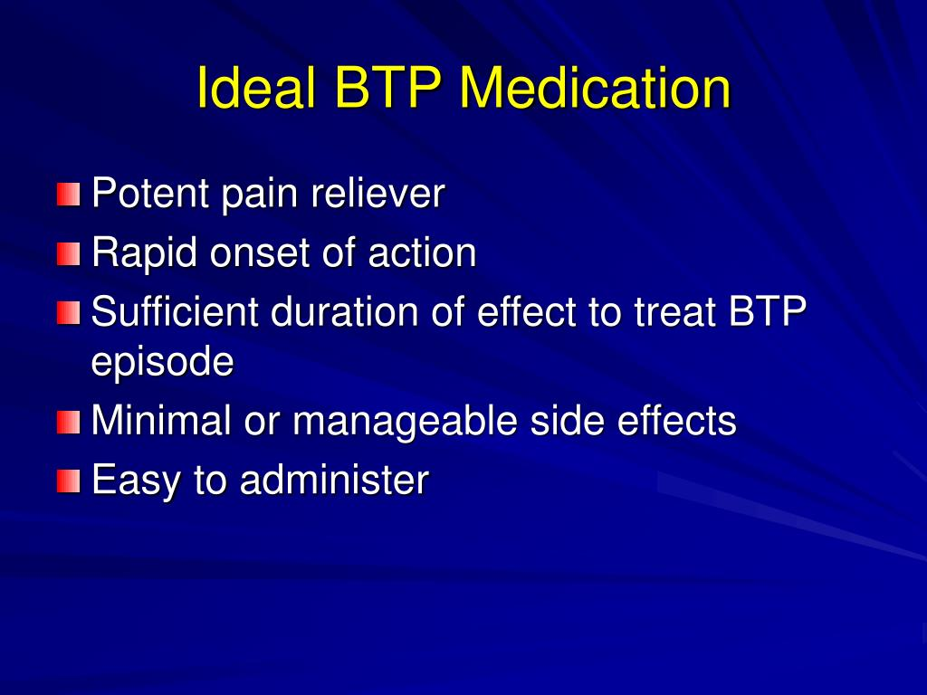 Ideal BTP Medication