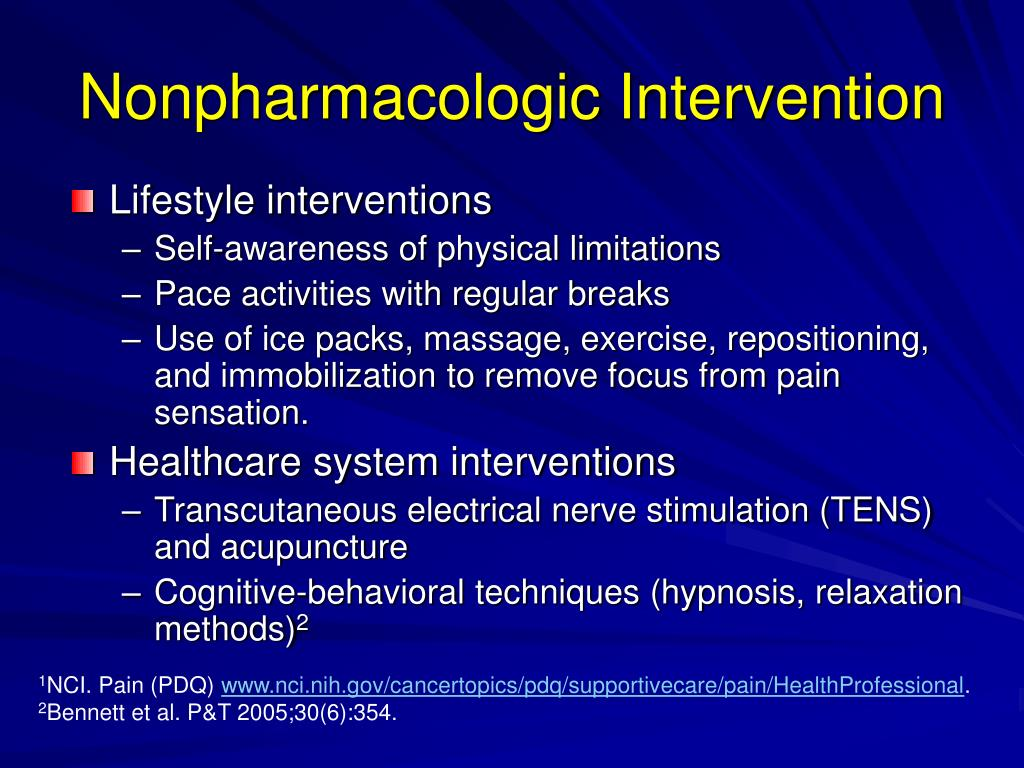Nonpharmacologic Intervention