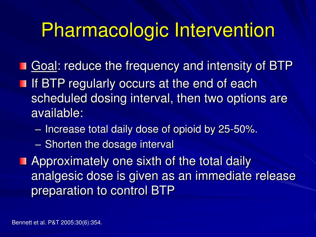 Pharmacologic Intervention