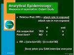 analytical epidemiology measures of association cohort study