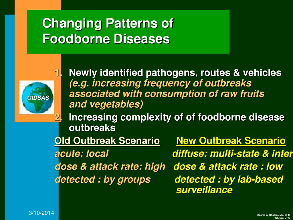 Changing Patterns of Foodborne Diseases