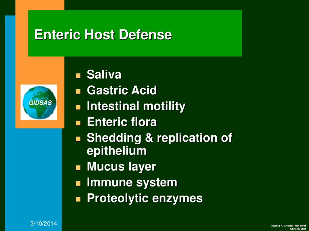 Enteric Host Defense