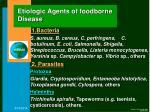 etiologic agents of foodborne disease