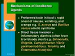 mechanisms of foodborne agents