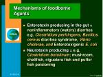 mechanisms of foodborne agents20