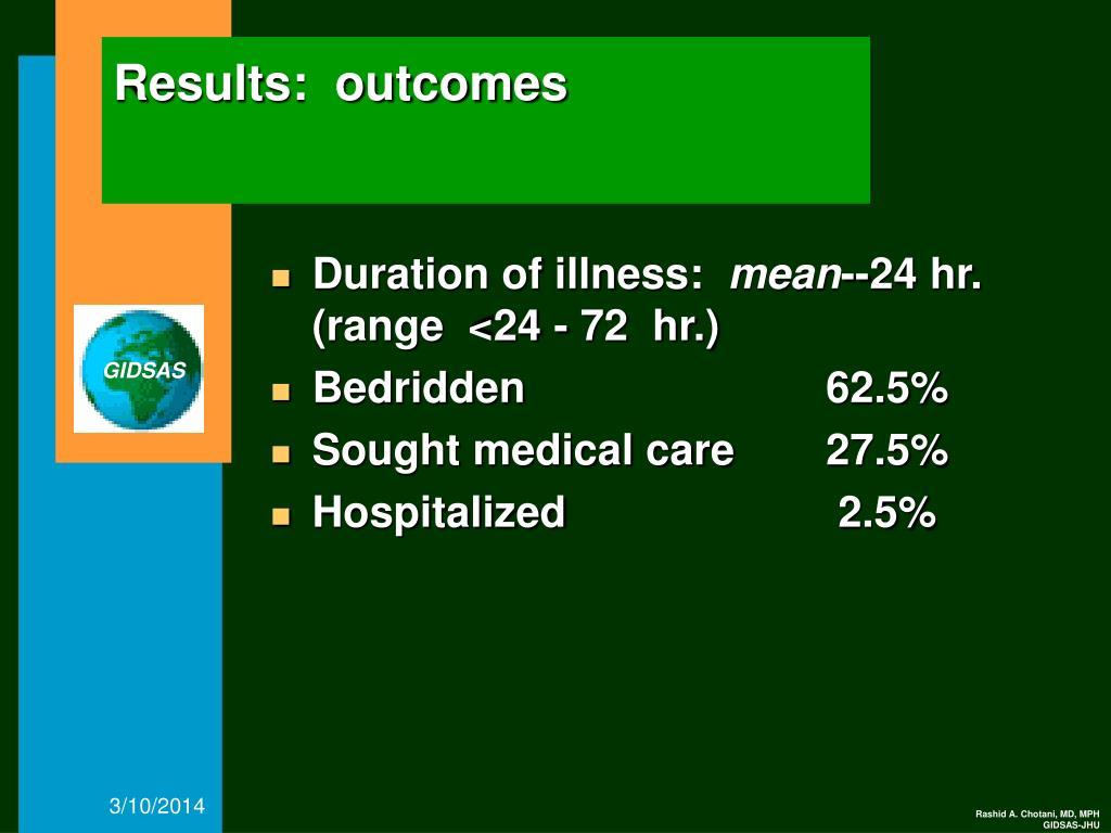Results:  outcomes