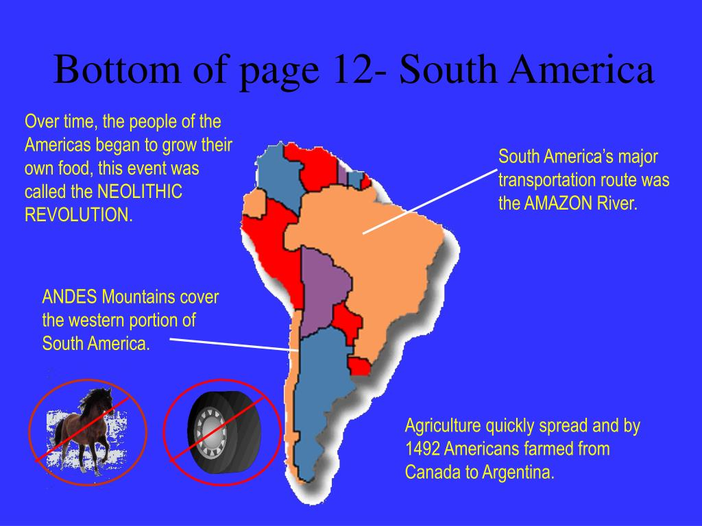 Bottom of page 12- South America