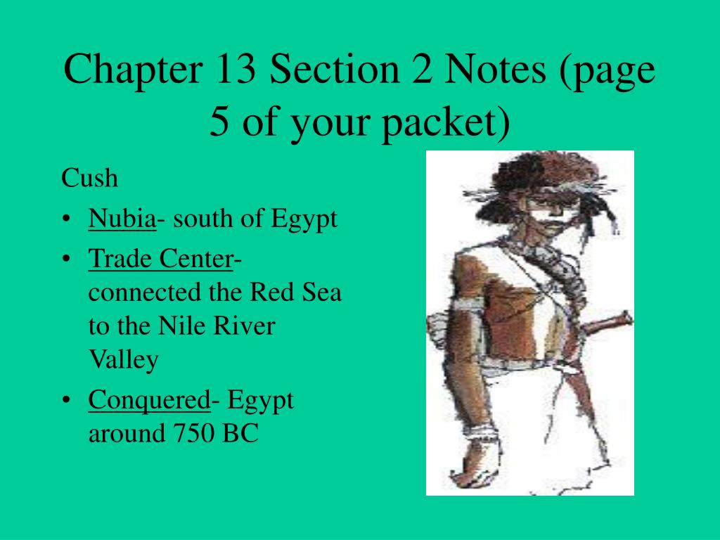 Chapter 13 Section 2 Notes (page 5 of your packet)