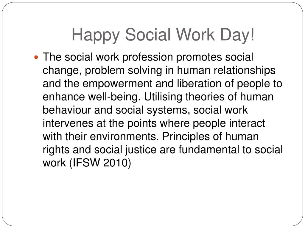 Happy Social Work Day!