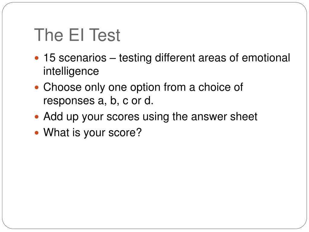 The EI Test