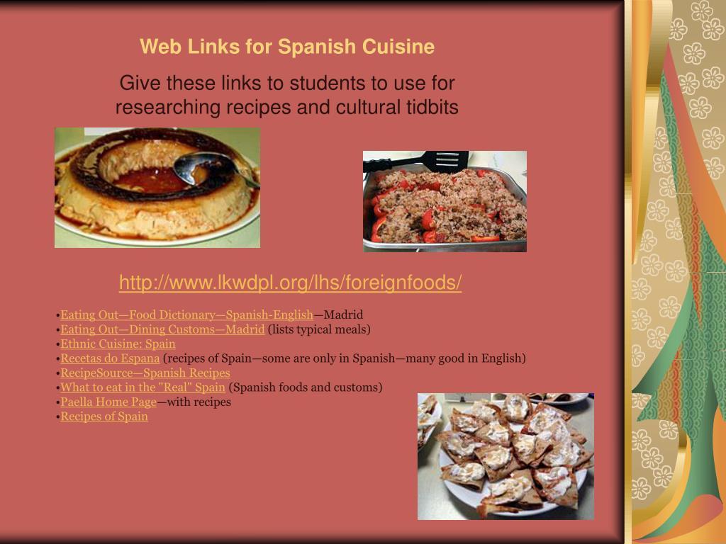 Web Links for Spanish Cuisine