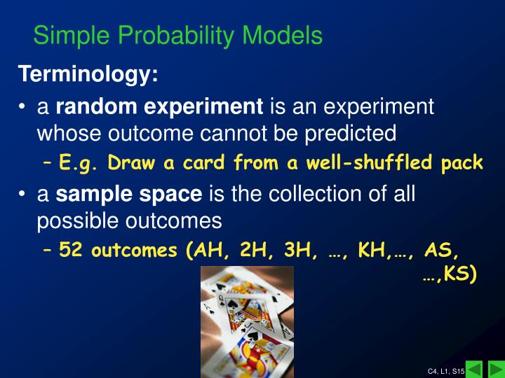 Simple Probability Models