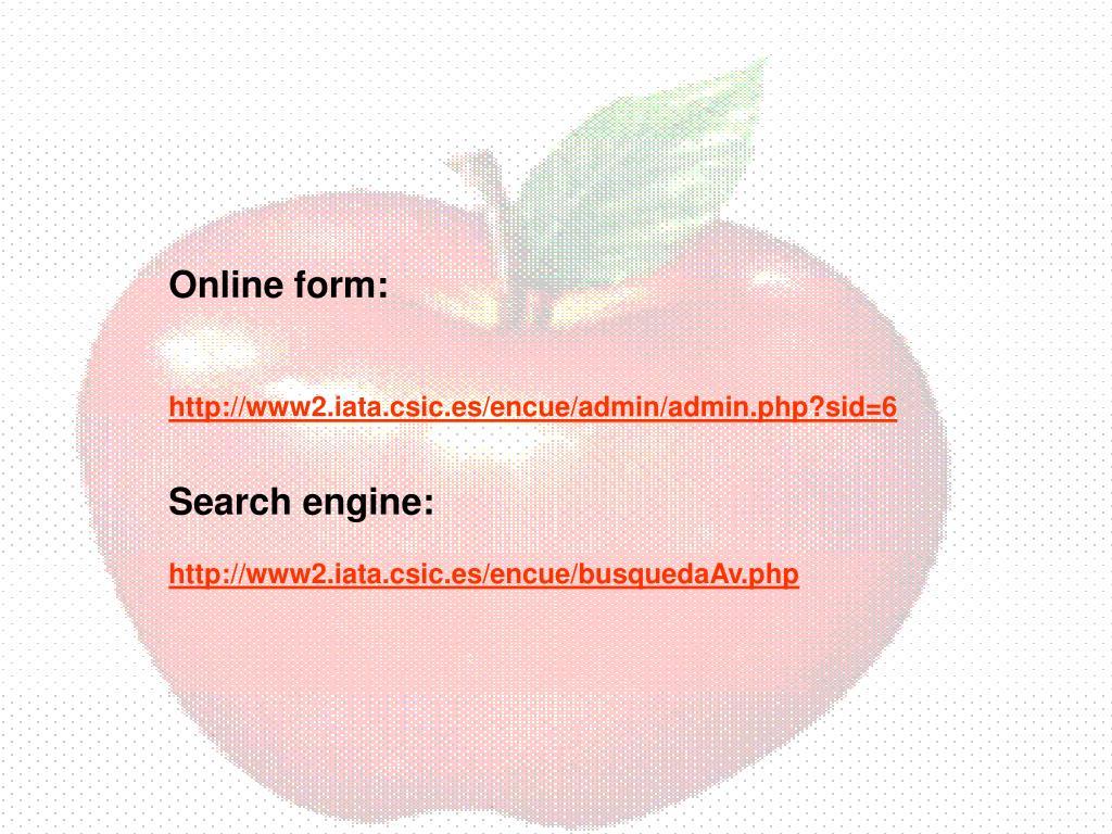 Online form: