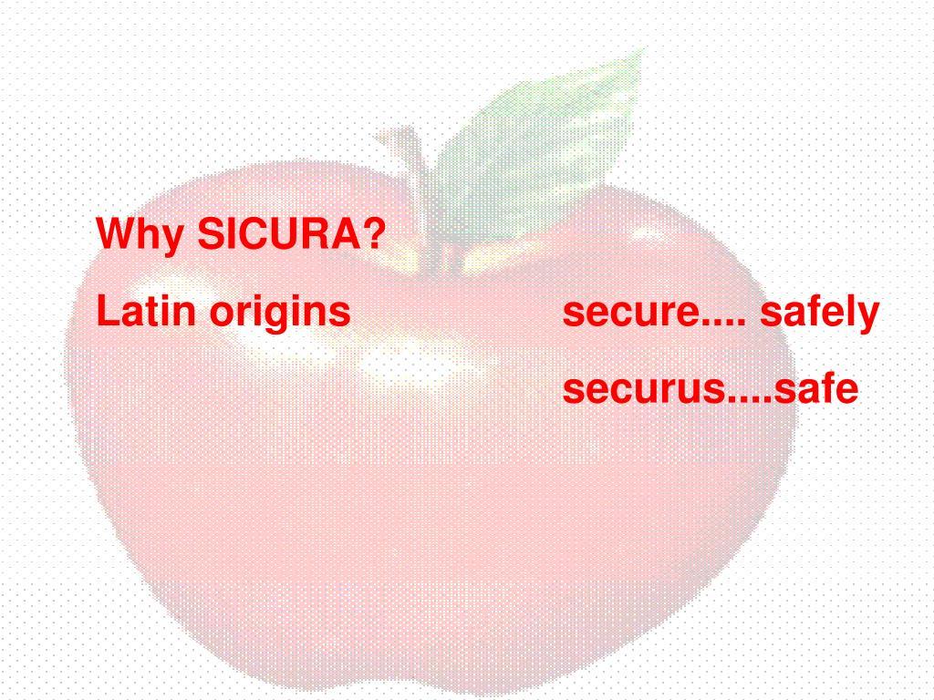Why SICURA?