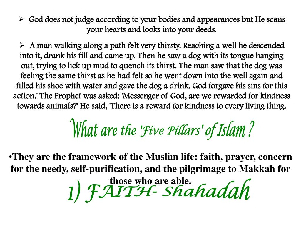 God does not judge according to your bodies and appearances but He scans your hearts and looks into your deeds.