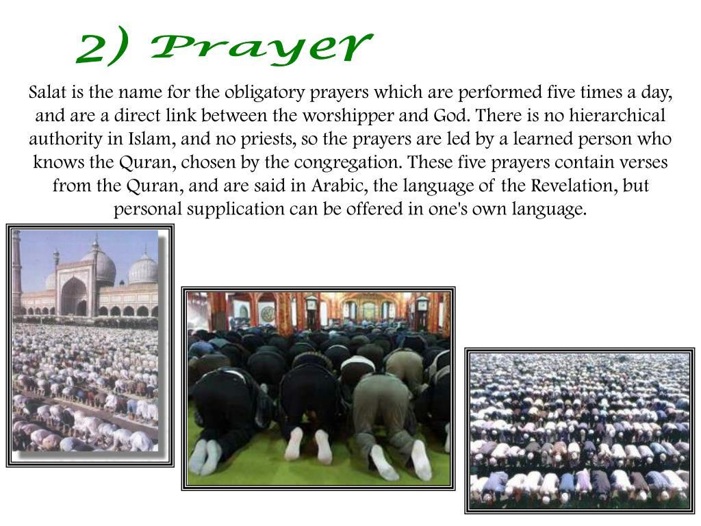 2) Prayer
