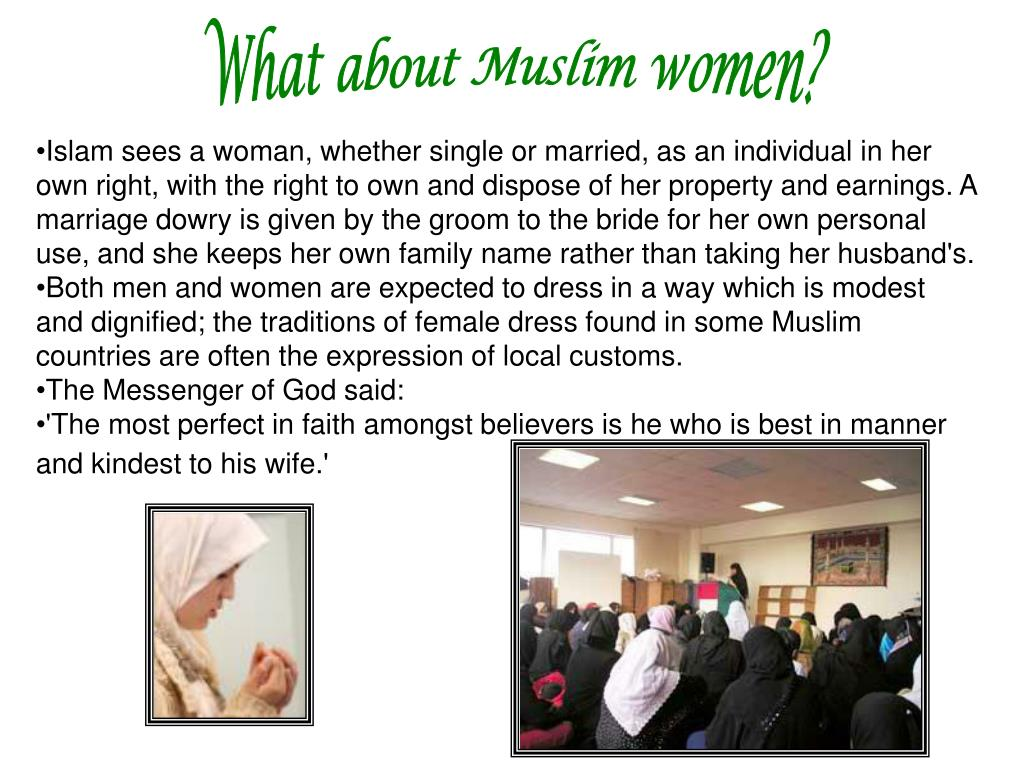 What about Muslim women?