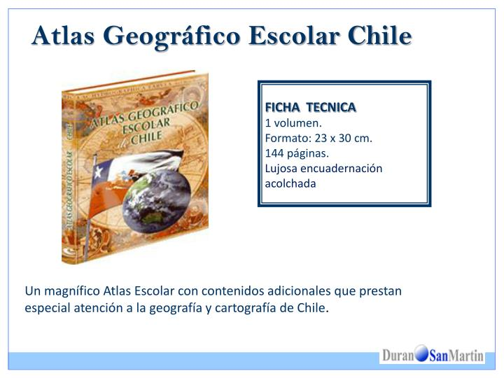 Atlas geogr fico escolar chile