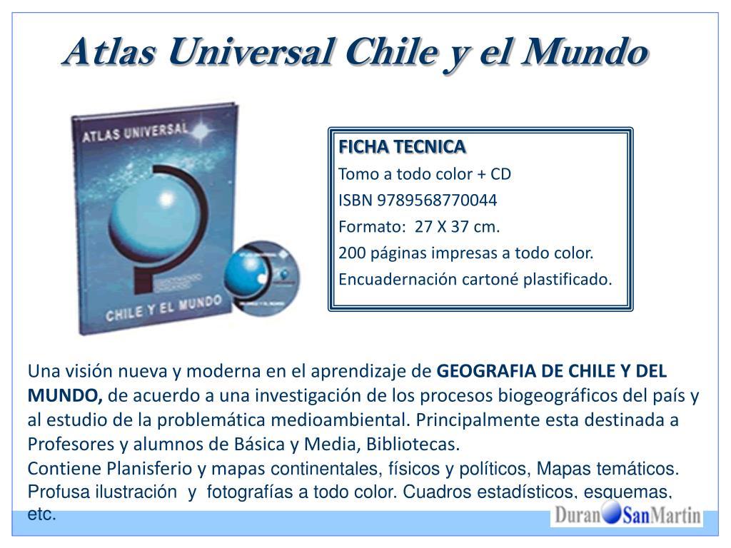 Atlas Universal Chile y el Mundo